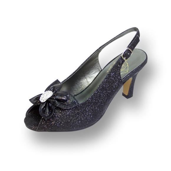 7f26e1c362f7b 👠 FLORAL Staci Women Wide Width Glitter Pump👠 Boutique